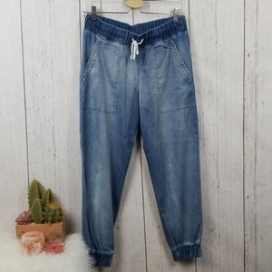Cloth & Stone chambray jogger pants size medium